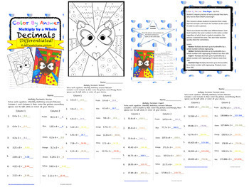Decimal Color by Answer Differentiated BUNDLE