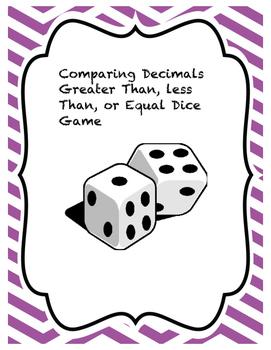 Decimal Compare Dice Roll