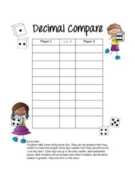 Decimal Games & Practice {Common Core Aligned}