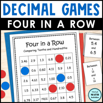 Decimal Comparison Four in a Row Games