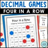 Decimal Comparison Four in a Row Games