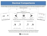 Decimal Comparisons Flash Cards