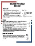 Decimal Computation Cheat Sheet