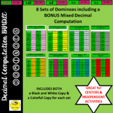 Decimal Computation Dominoes Games Bundle