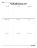 Decimal Computation Magic Squares