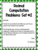Decimal Computation Problems Set 2