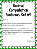Decimal Computation Problems Set 5