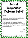 Decimal Computation Problems Set 8