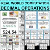 DECIMAL COMPUTATION Scavenger Hunt Operations Travel Game & Task Cards
