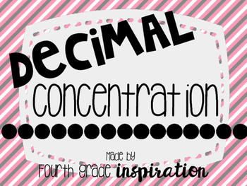Decimal Concentration ****UPDATED****