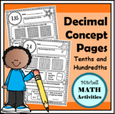 Decimal Concept Pages - Tenths and Hundredths Edition