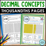 Decimal Concept Pages - Thousandths Edition