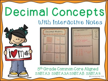 Decimal Concepts Unit {with Interactive Notes}