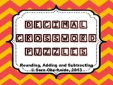 Decimal Crossword Puzzles - Rounding, Adding and Subtracting