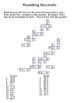 Decimal Crossword Puzzles - Rounding, Adding and Subtracting