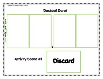 Decimal Dare! Place Value Activity & Learning Station