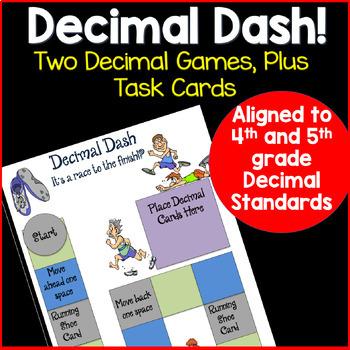 Decimal Game and Task Cards: Decimal Dash