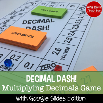 Decimal Dash! A Multiplying Decimals Board Game