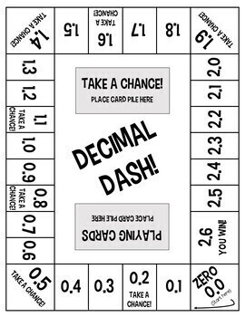 Wild image in printable decimal games