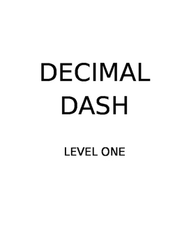 Decimal Dash - Word Problem Task Cards - 3 Levels