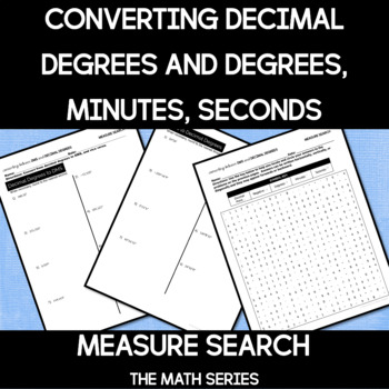 Decimal Degrees and Degrees, Minutes, Seconds (DMS) Measure Search