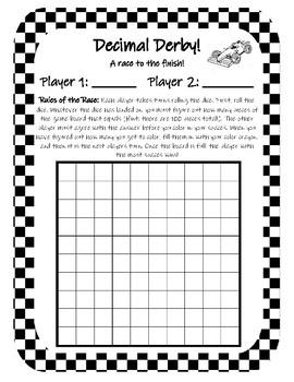 Decimal Derby Activity