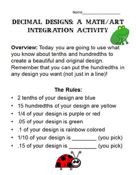 Decimal Designs: A Math/Art Integration Activity 4.NF.5, 4.NF.6