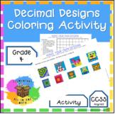 Decimal Designs Coloring Activity - 4th Grade Fractions (4.NF.6)