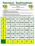 Decimal Destruction Game - Comparing Decimal Numbers to th