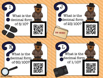 Decimal Detectives: QR Code Task Cards (4th gr CCSS)