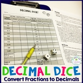 Decimal Dice - Fraction to Decimal Conversion Math Game