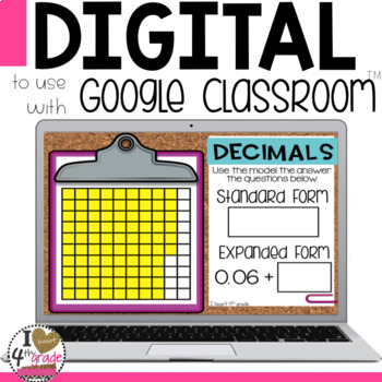 Decimal Digital Lesson to use with Google Classroom