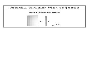 Decimal Division - Algebra I