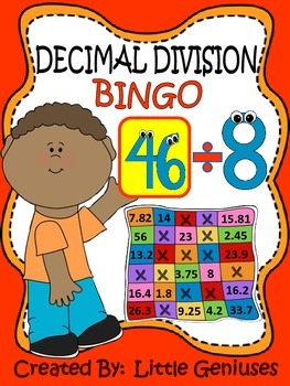 Division With Decimals Bingo