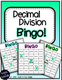 Decimal Division Math Bingo - Math Review Game