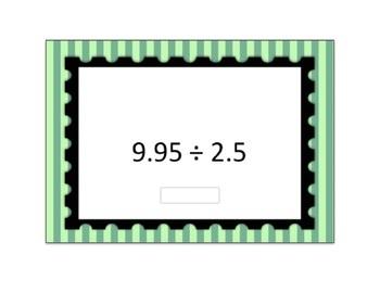Decimal Division Computation Digital Boom Card Deck - Set 1 (open ended)