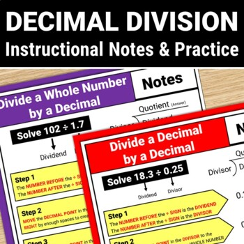 Decimal Division Guided Notes and Practice