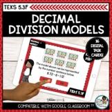 Decimal Division Models   Boom Cards Distance Learning