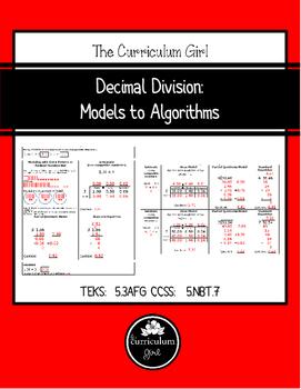 Decimal Division: Models to Algorithms (5.3A, 5.3F, 5.3G,