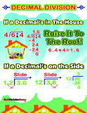Decimal Division = Poster/Anchor Chart with Cards for Stud