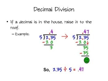 Decimal Division Power Point