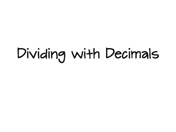 Decimal Division Power Point