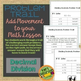 Decimal Division Problem Trail - Add Movement to Your Math Lesson