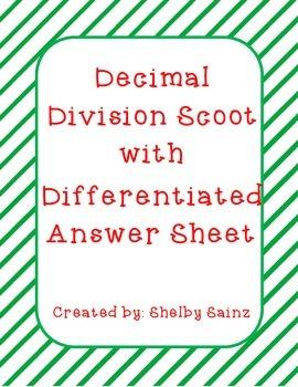 Decimal Division Task Cards FREEBIE