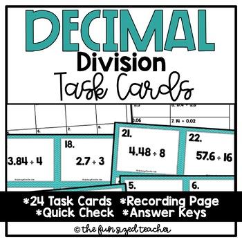 Decimal Division Task Cards