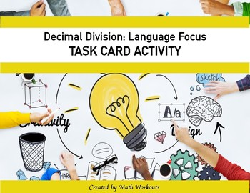 Decimal Division Task Cards - Language Focus