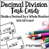 Decimal Division Task Cards - Decimal by Whole Number - CC