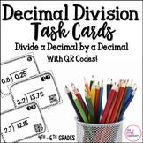 Decimal Division Task Cards - Divide Decimal by Decimal - CCSS and TEKS Aligned