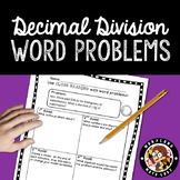 Decimal Division Word Problems - Close Reading!