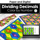 Decimal Division Color by Number (Dividing Decimals by Decimals)